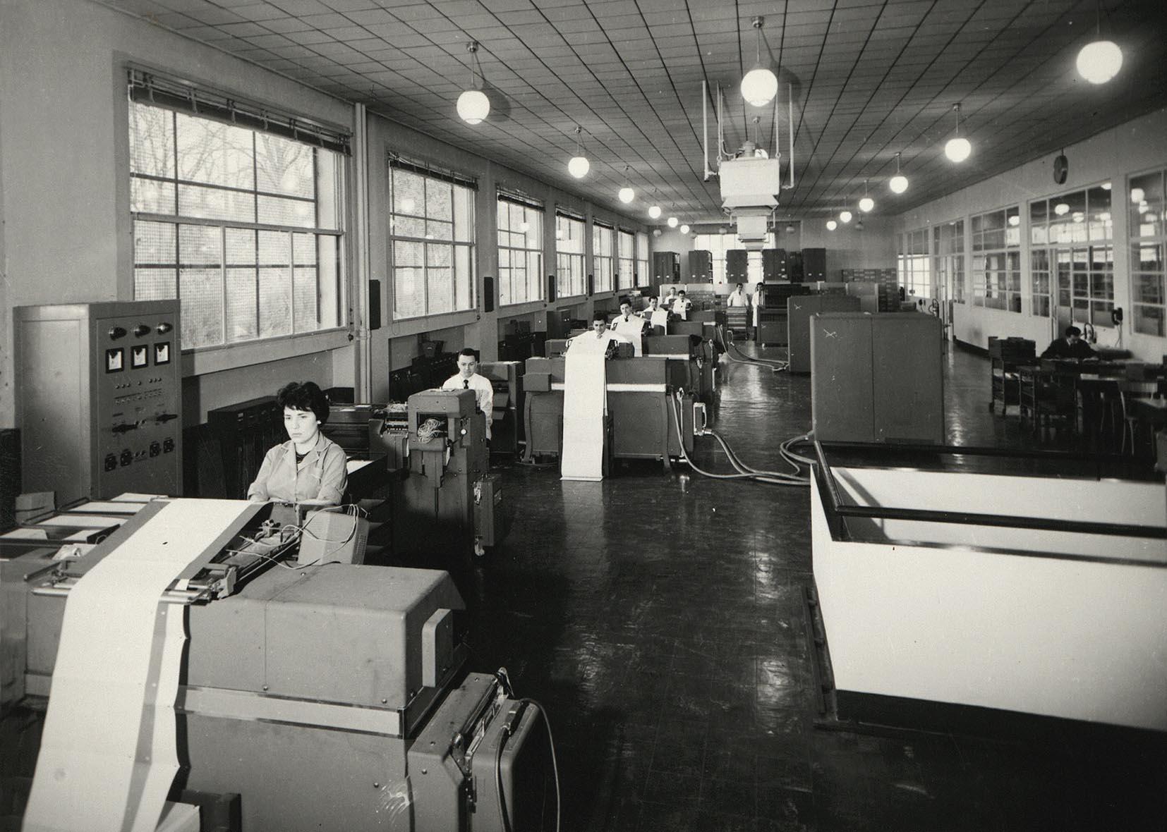 Un centre administratif en 1960