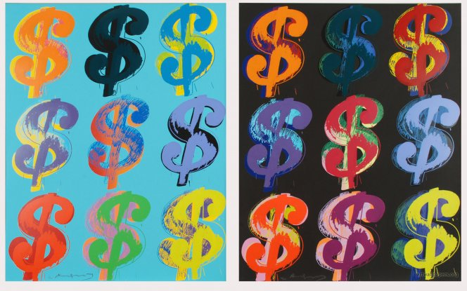 Dollars signs, Andy Warhol, 1981